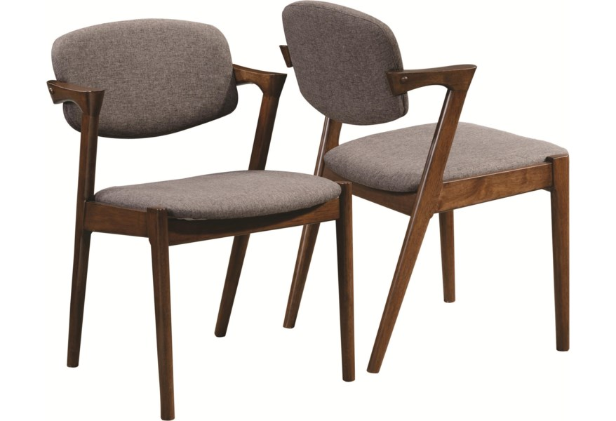 Coaster Malone Mid Century Modern Dining Side Chair Rife S Home Furniture Dining Arm Chairs