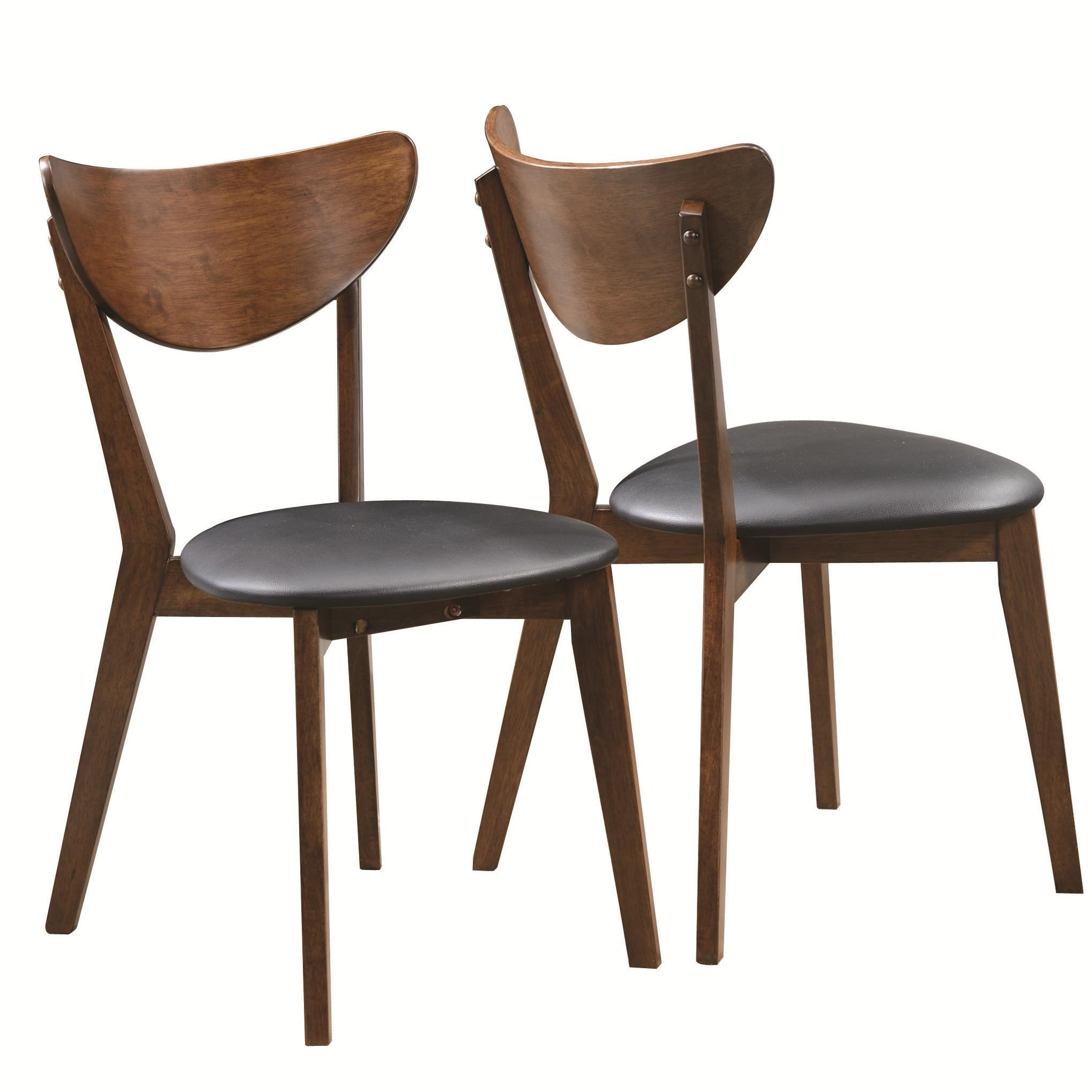 Modern Side Chairs Valencia Ave All Leather Side Chair Set 2