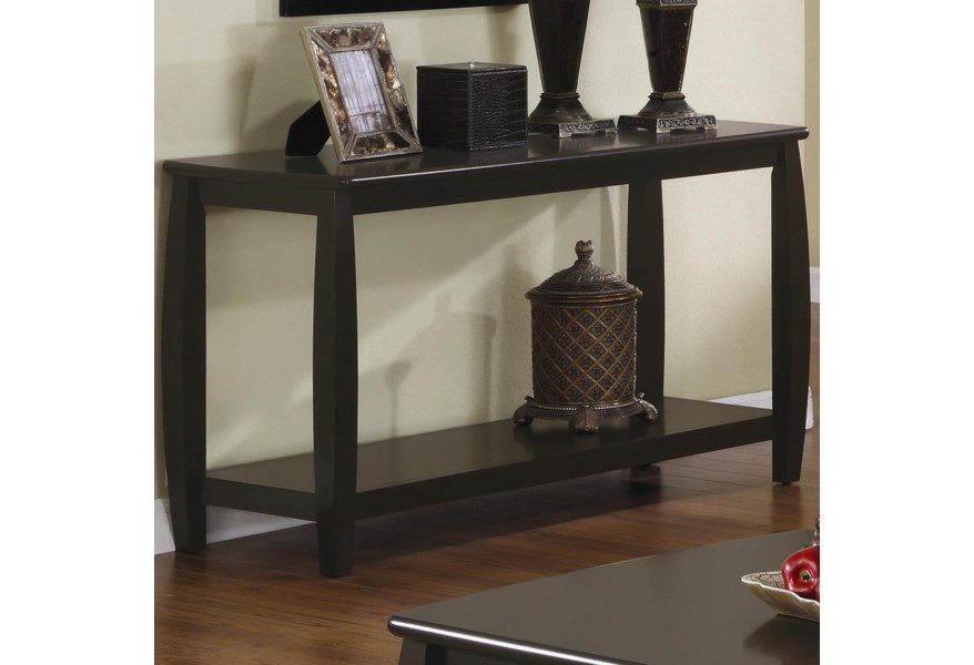 Admirable Marina Sofa Table With 1 Bottom Shelf By Coaster At Dunk Bright Furniture Alphanode Cool Chair Designs And Ideas Alphanodeonline