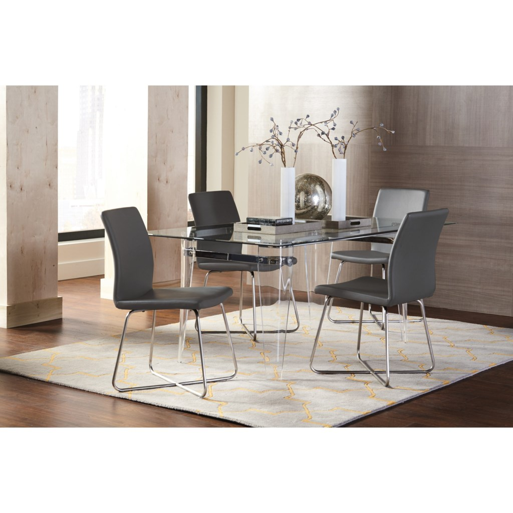 Coaster Michonne See Through Dining Table Dunk & Bright