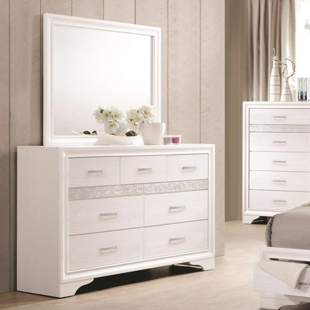 Coaster Miranda 7 Drawer Dresser Mirror With Wood Frame Value