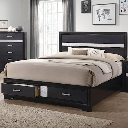 Coaster Miranda California King Storage Bed with 2 Dovetail Drawers
