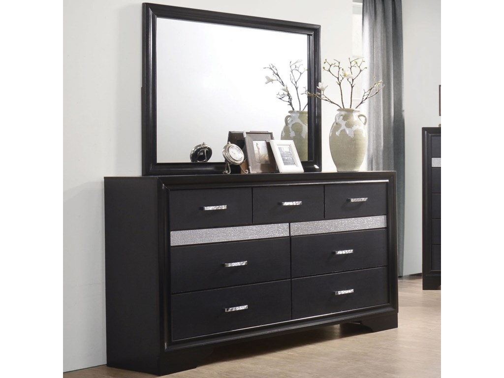 Coaster Miranda7 Drawer Dresser and Mirror