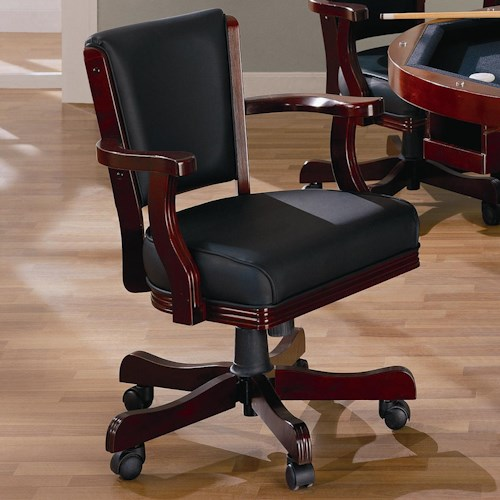 Coaster Mitchell Upholstered Arm Game Chair
