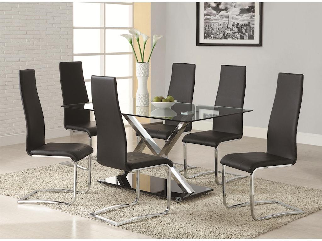 Coaster Modern DiningBlack Dining Chair