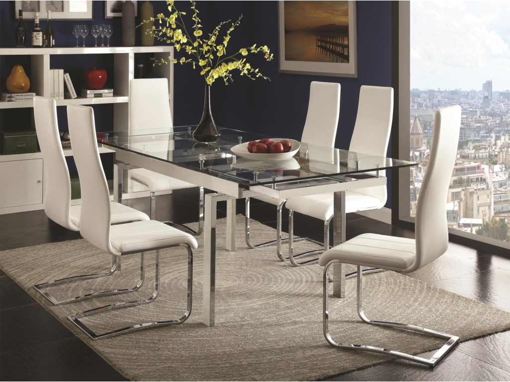Coaster modern diningcontemporary dining room set