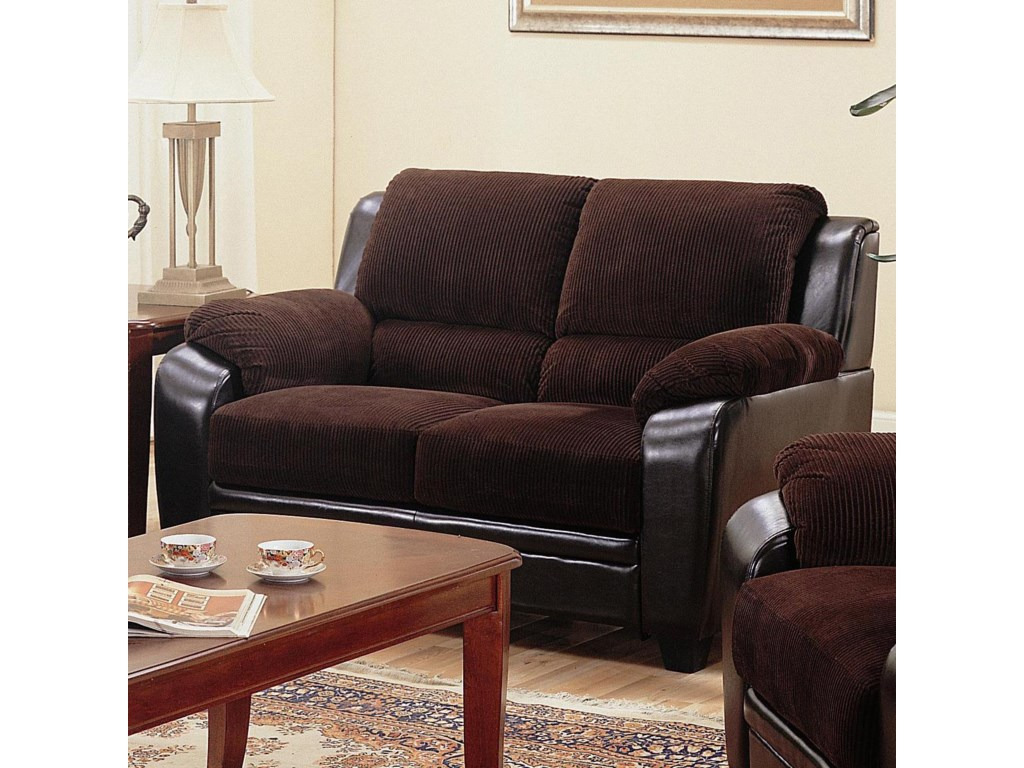 Two-Toned Stationary Loveseat