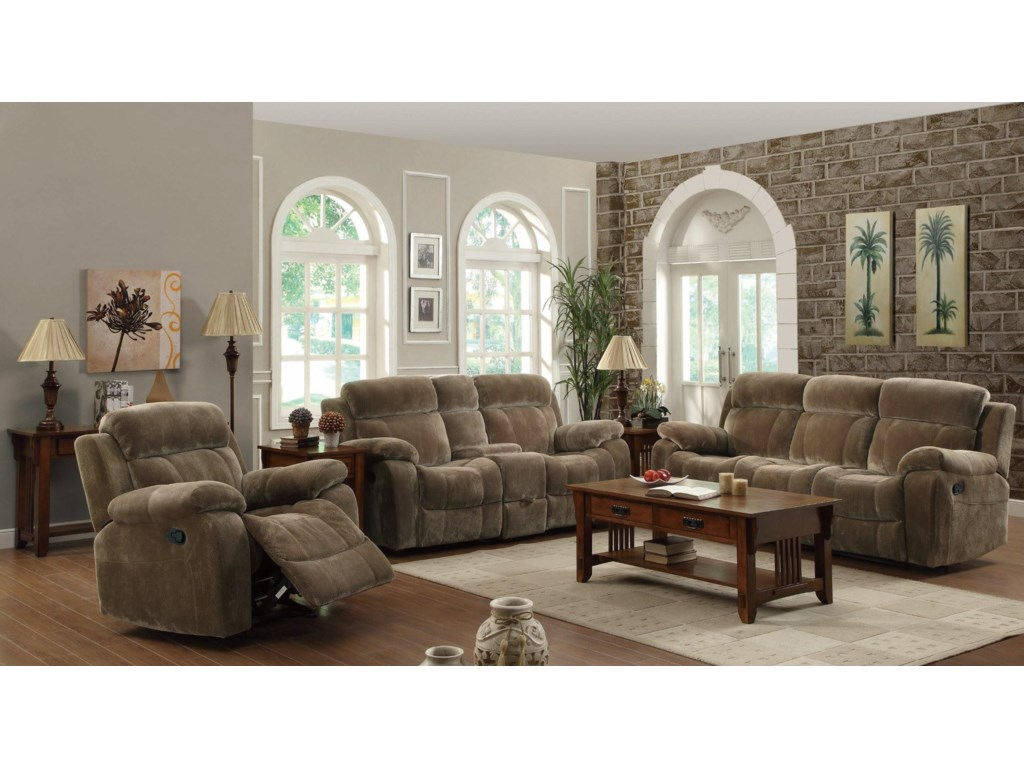 Shown with Glider Recliner and Motion Sofa