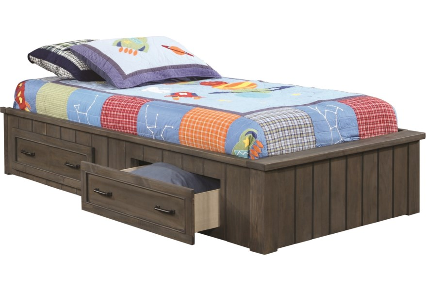 Twin Platform Bed With Storage Drawers