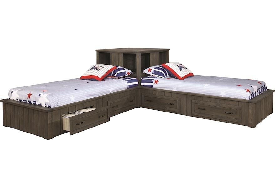 Corner Bed Set With Storage Drawers