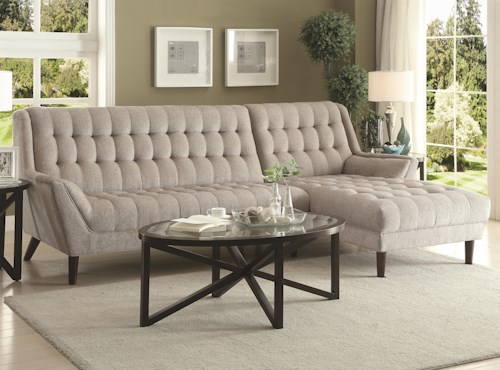 Coaster Natalia Contemporary Sectional Sofa