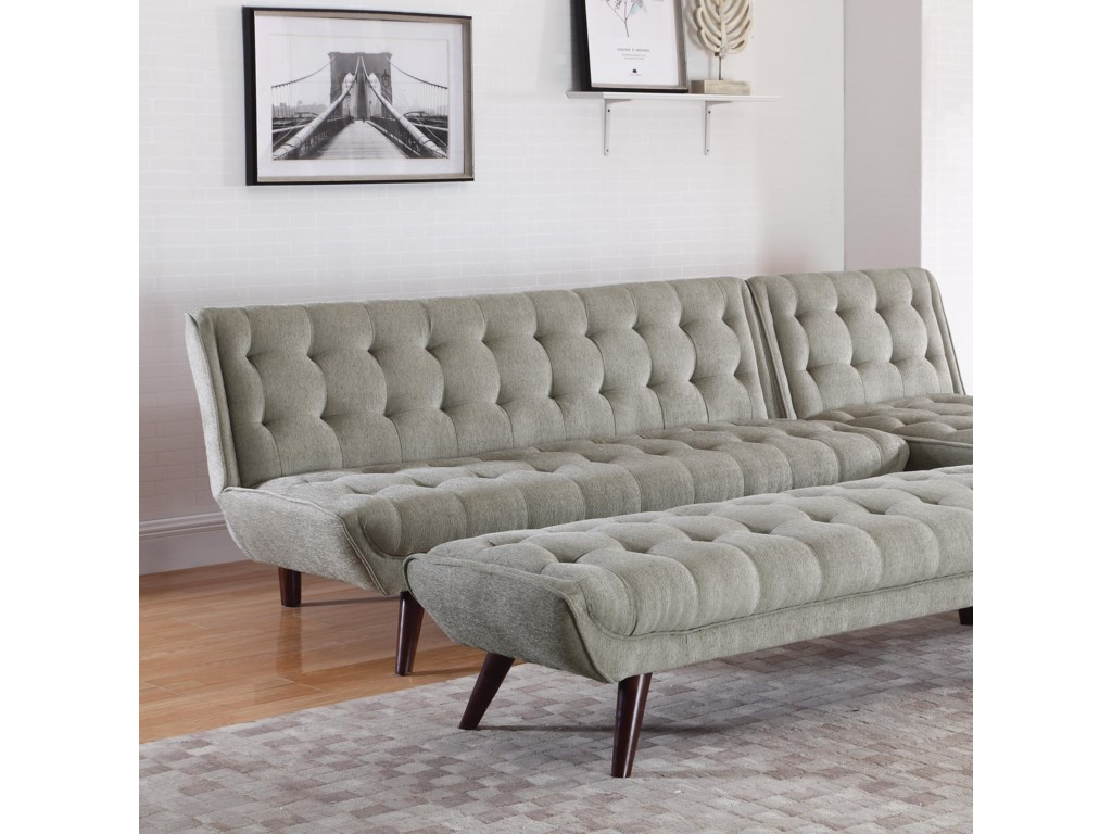 Coaster Natalia Mid Century Modern Futon | Value City Furniture | Futons