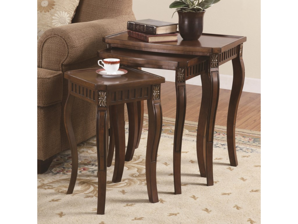 Coaster nesting tables 901076 3 piece curved leg nesting tables nesting tables 3 piece curved leg nesting tables by coaster watchthetrailerfo