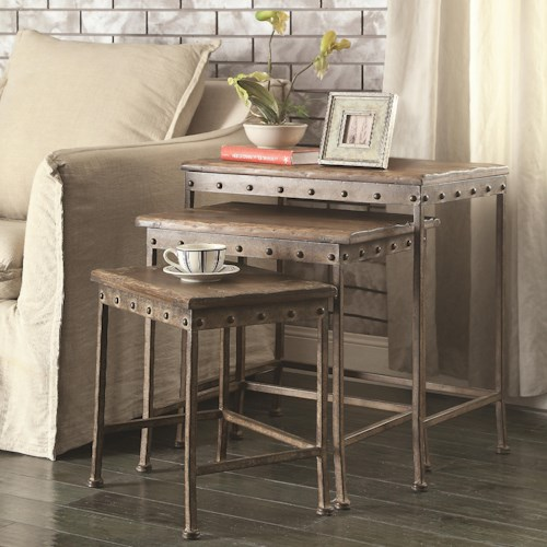 Coaster Nesting Tables Set of Three Nesting Tables with Antique ...