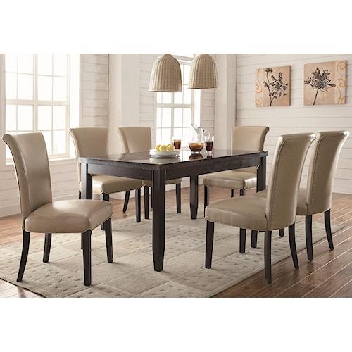 Coaster Newbridge 7 Piece Dining Table & Chair Set