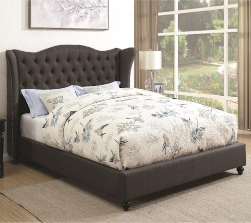 Coaster Newburgh Twin Upholstered Bed with Button Tufted Headboard