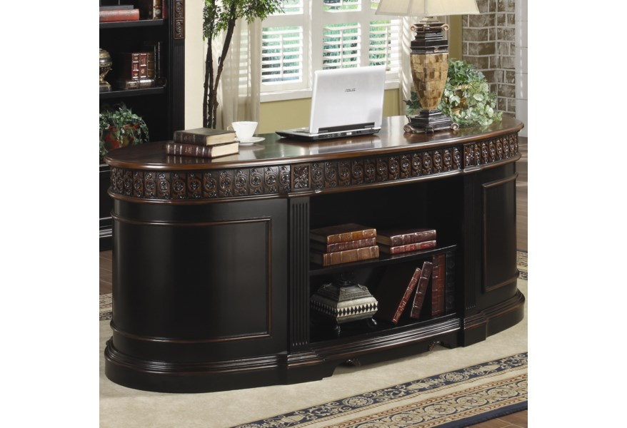 Nicolas Traditional Oval Executive Double Pedestal Desk by Coaster at  Northeast Factory Direct