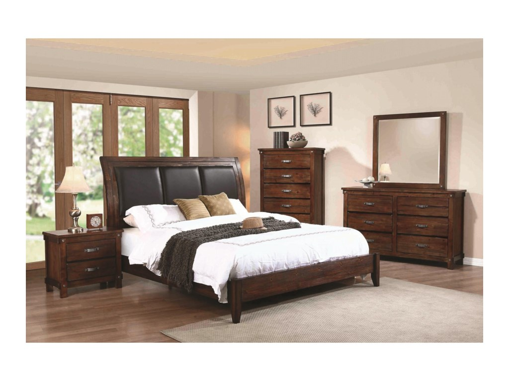 Coaster NobleKing Panel Bed