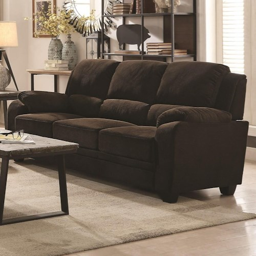 Coaster Northend Casual Sofa With Velvet Like Fabric
