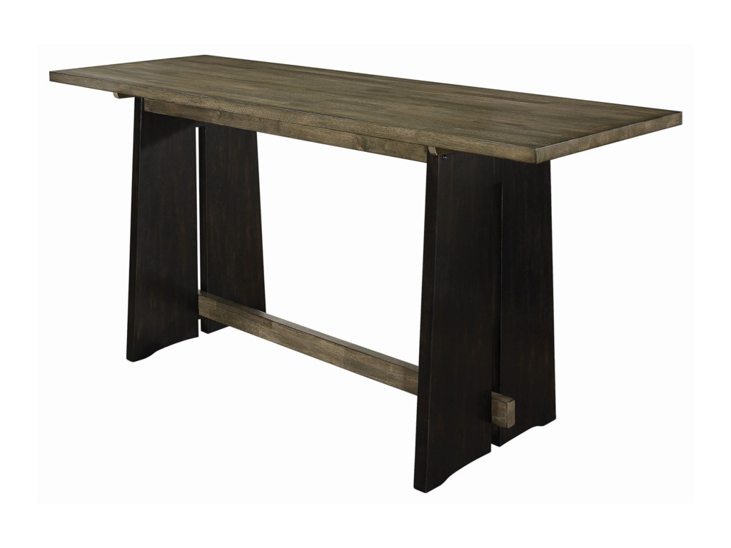 Coaster Oakley5-Piece Solid Wood Counter Height Table Set