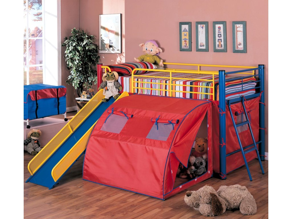 Coaster OatesBunk Bed with Slide and Tent