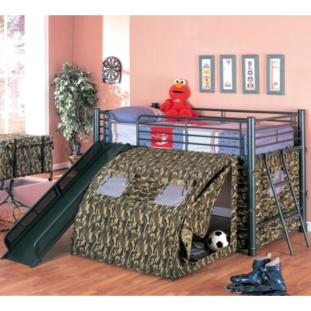 Bunk Bed with Slide and Tent
