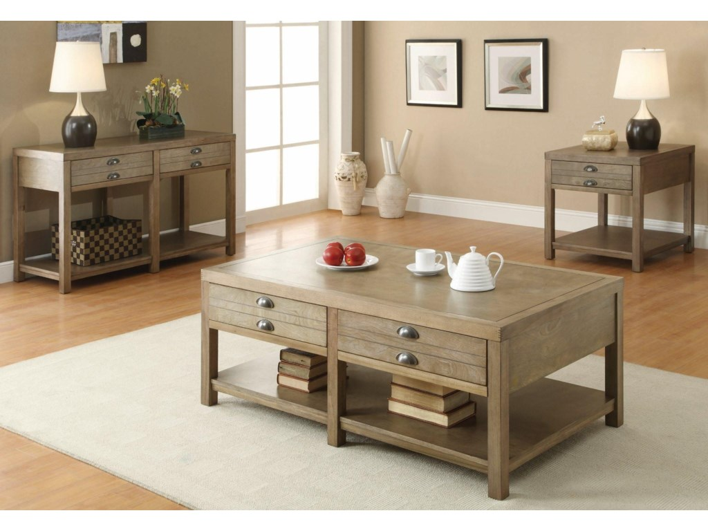 Shown with Sofa Table and Coffee Table