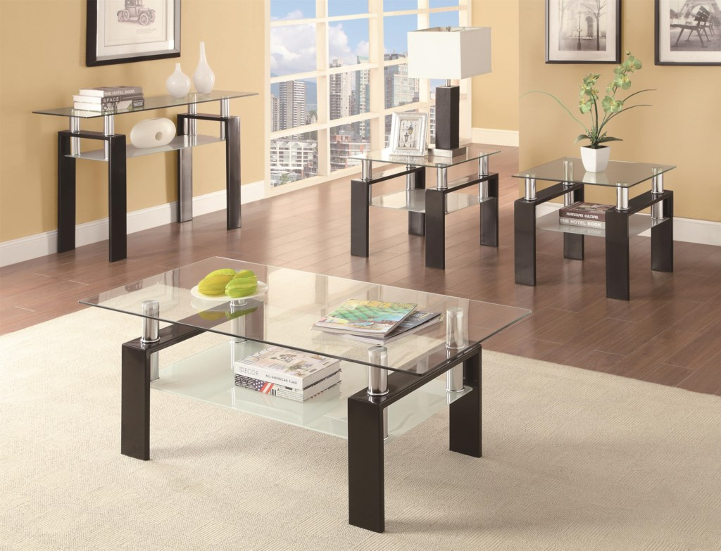 Coaster Occasional Group Tempered Glass Coffee Table Dunk