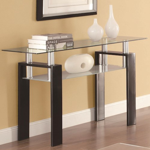 Coaster Occasional Group 702280 Tempered Glass Sofa Table