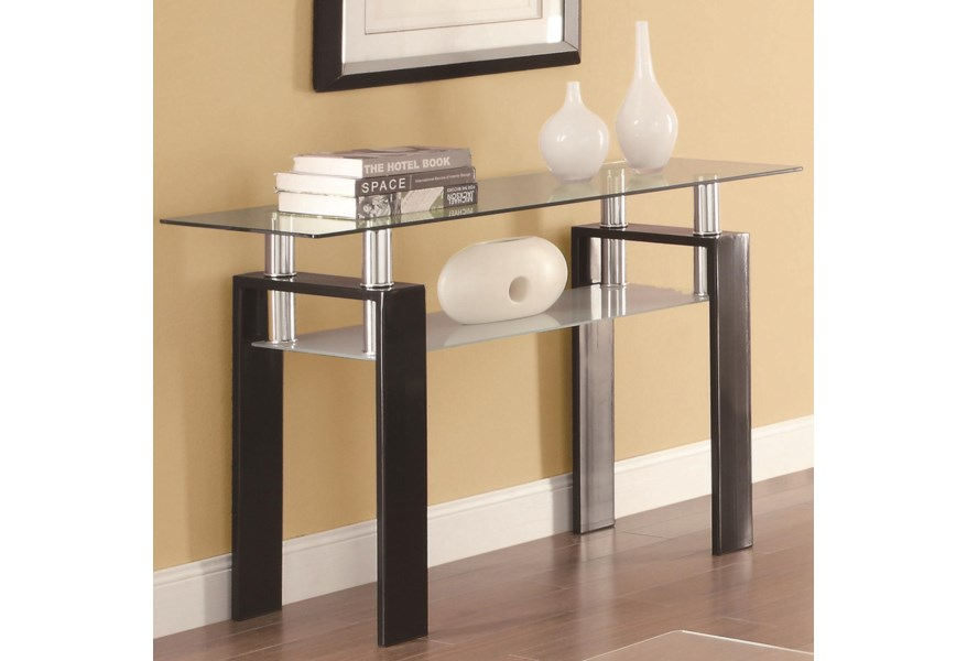 Coaster Occasional Group 702280 702289 Tempered Glass Sofa Table