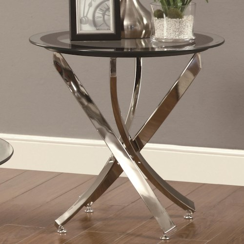 Coaster Occasional Group 702580 End Table w/ Tempered Glass Top