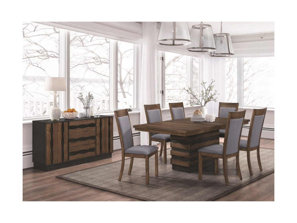 Coaster Octavia 107391 Dining Table with Hidden Storage in Base ...