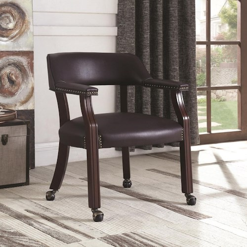 coaster office chairs traditional office chair with nailhead trim