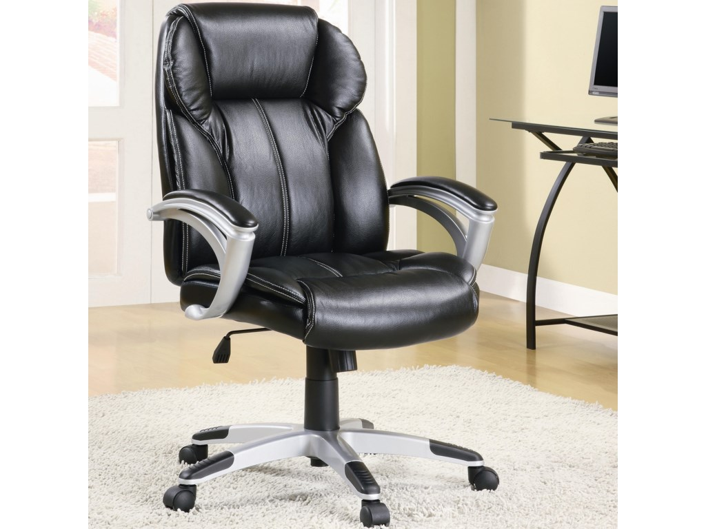 Coaster Office Chairs Casual Contemporary Faux Leather Task Chair