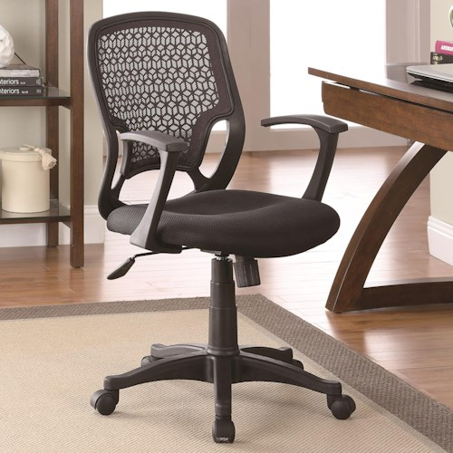 Coaster Office Chairs Contemporary Mesh Office Chair With