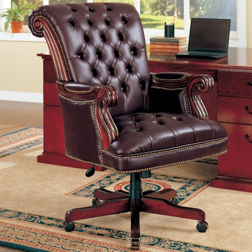 Coaster Office Chairs Traditional Leather Executive Chair