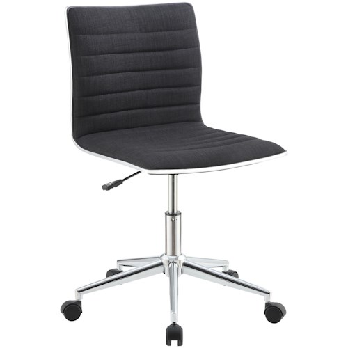 Coaster Office Chairs Sleek Chair With Chrome Base