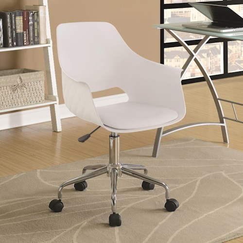 Coaster Office Chairs Contemporary Office Chair with Leatherette Seat