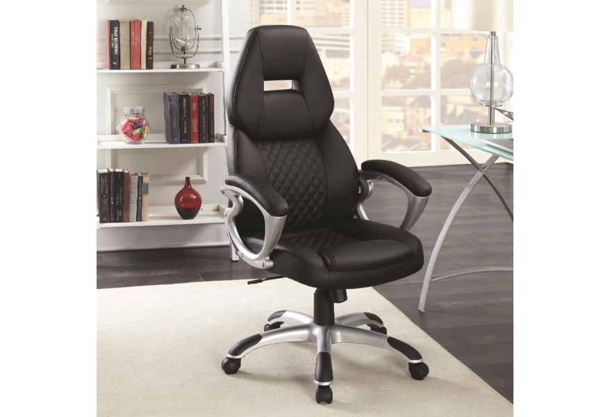 Coaster Office Chairs High Back Office Chair Standard Furniture Executive Desk Chairs