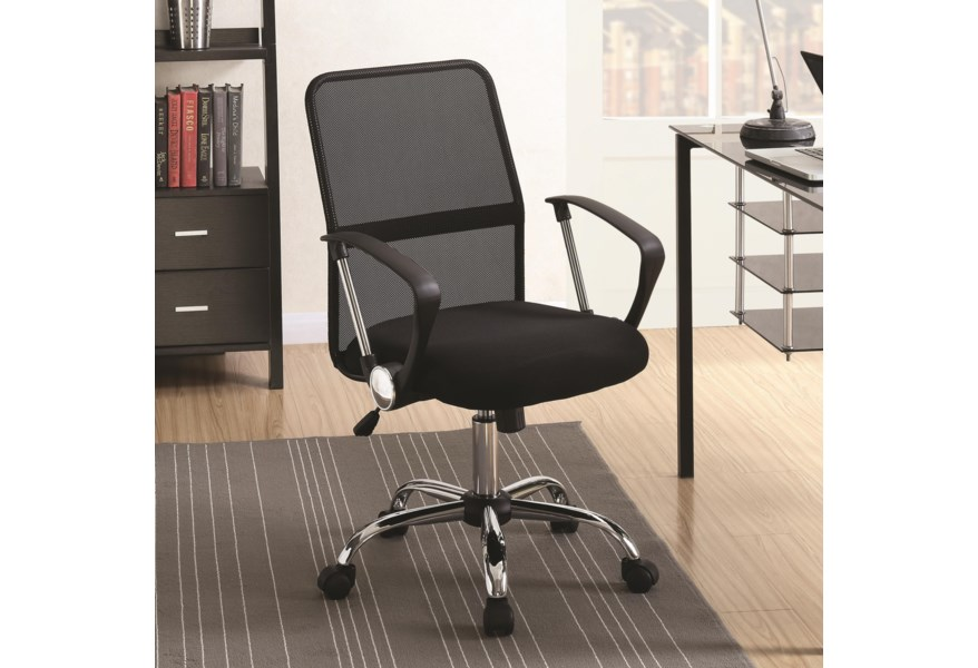 Coaster Office Chairs 801319 Modern Office Chair With Mesh Backrest Corner Furniture Office Task Chairs
