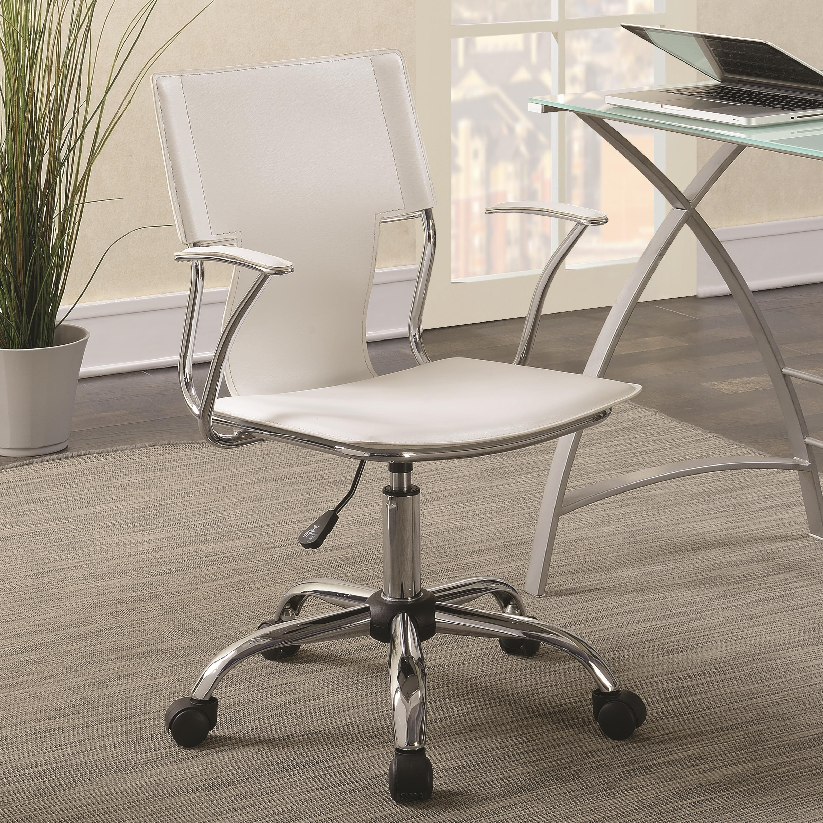 Contemporary Office Chair with Upholstered Seat