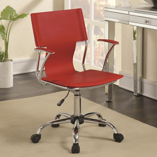 Coaster Office Chairs Contemporary Chair With Upholstered Seat