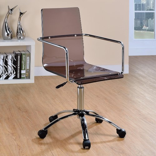 Coaster Office Chairs Acrylic Office Chair with Steel Base