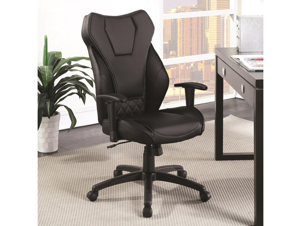 Coaster Office Chairs Leatherette High Back Chair