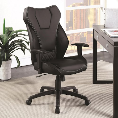 Coaster Office Chairs Leatherette High Back Office Chair