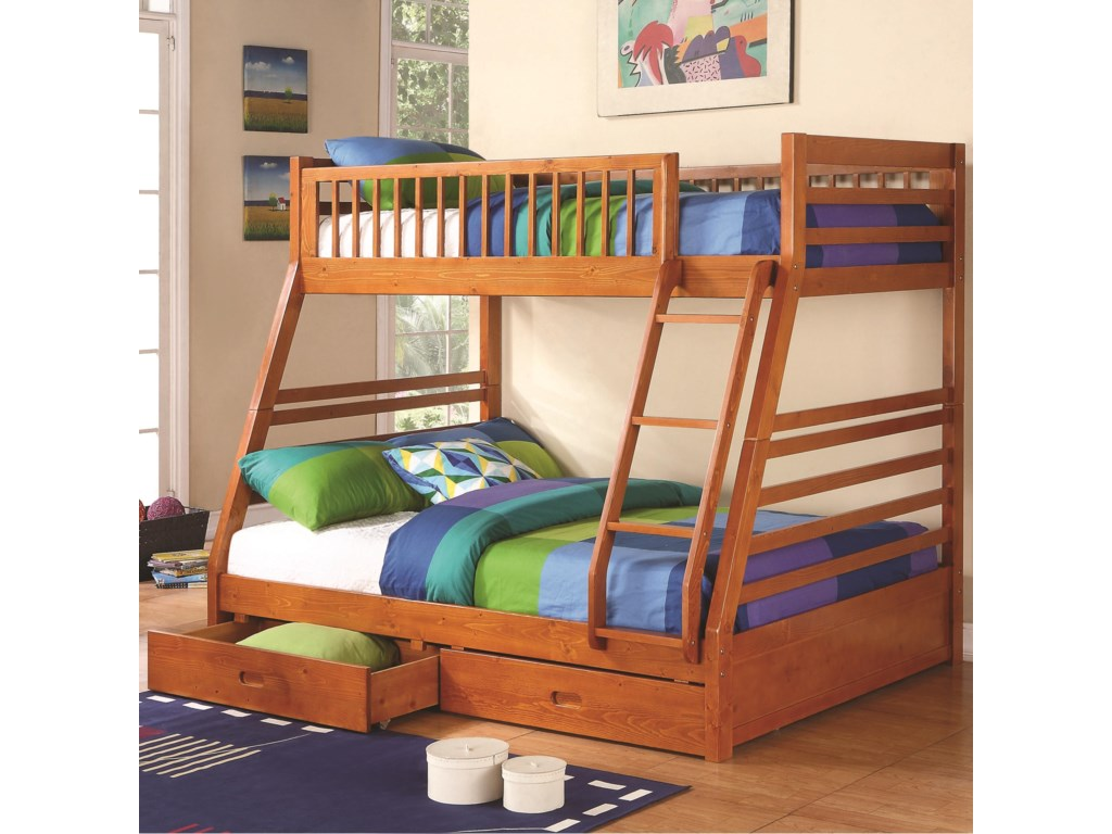 Coaster OgletownTwin Over Full Bunk Bed