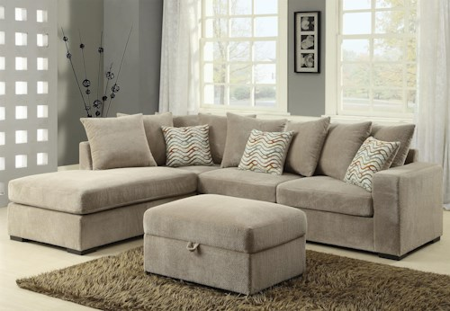 Coaster Olson Contemporary Reversible Sectional With