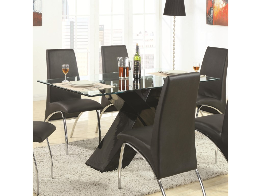 Fine Furniture Ophelia 120811 Contemporary Gl Top Dining