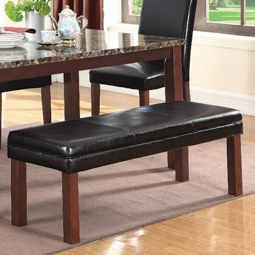 Coaster Otero Transitional Dining Bench with Leatherette Top
