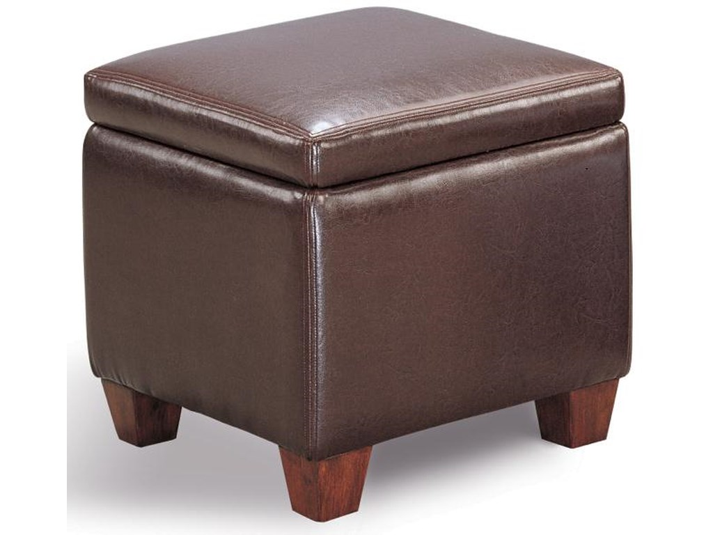 e42c693dbd28 Ottomans Casual Faux Leather Storage Cube Ottoman by Coaster at Dunk &  Bright Furniture